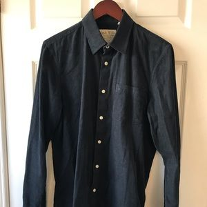 JACK WILLS SHIRT. SZ. M. CORDUROY. NAVY